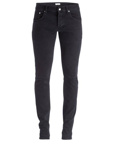 Destroyed-Jeans Skinny-Fit - schwarz