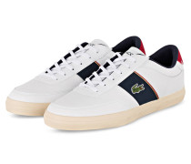Sneaker COURT-MASTER - WEISS/ DUNKELBLAU