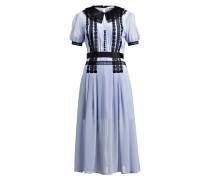 Kleid - hellblau/ schwarz