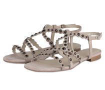 Sandalen mit Nietenbesatz - TAUPE/SCHWARZ