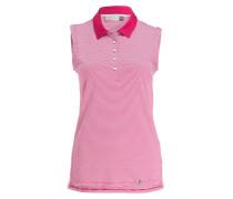 Poloshirt - pink/ weiss gestreift