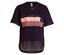 T-Shirt mit Mesh-Einsätzen