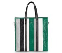 Shopper BAZAR MEDIUM - grün/ grau/ weiss