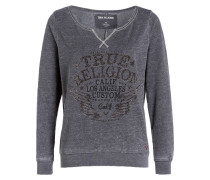 Sweatshirt ARTWORK - grau meliert