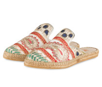 Slipper IRIS 27 - gold/ rot/ grün