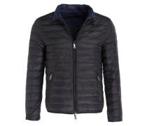 Lightweight-Daunenjacke - schwarz/blau