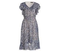 Kleid - dunkelblau/ hellblau/ beige