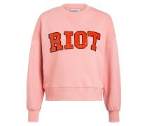 Oversized-Sweatshirt mit Paillettenbesatz