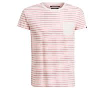 T-Shirt - wollweiss/ rosa gestreift
