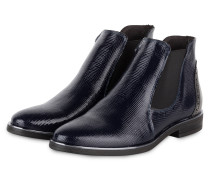 Chelsea-Boots - MARINE/ SILBER
