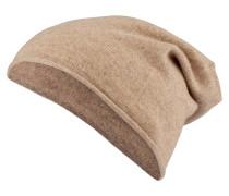Cashmere-Mütze - beige