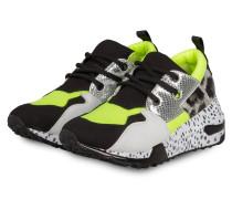 Sneaker CLIFF - SCHWARZ/ WEISS/ NEONGELB