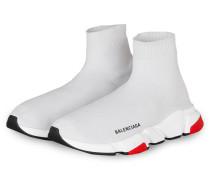 Hightop-Sneaker SPEED - WEISS/ ROT