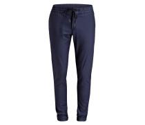 Cuffed-Hose im Jogging-Stil - navy/ blau