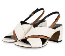 Sandaletten - WEISS/ BRAUN