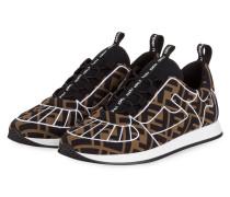 Slip-on-Sneaker FREEDOM - BRAUN/ SCHWARZ