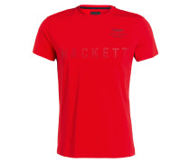 T-Shirt mit monochromer Label-Prägung