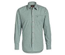 Trachten-Hemd - grün/ weiss kariert