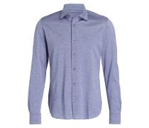 Jerseyhemd Slim-Fit - blau