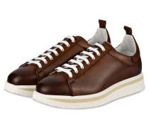 Plateau-Sneaker - BRAUN/ WEISS