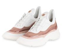 Plateau-Sneaker - WEISS/ NUDE/ ALTROSA