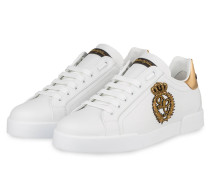 Sneaker PORTOFINO - WEISS/ GOLD