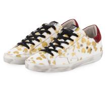 Sneaker SUPERSTAR - weiss/ gold/ rot