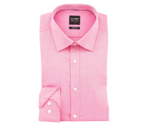 Hemd Level Five body fit - pink struktur