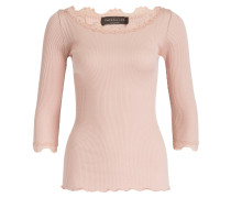 Shirt mit Seidenanteil - rosé