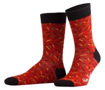 3er-Pack Socken - rot/ schwarz