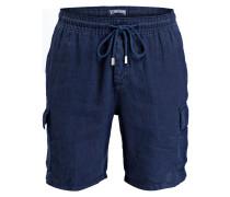 Leinen-Cargo-Shorts