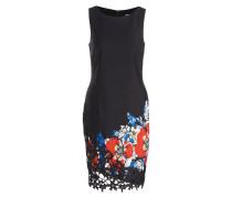 Kleid - schwarz/ rot/ blau