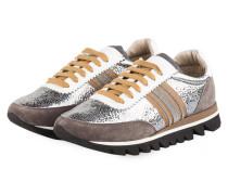 Sneaker - WEISS/ TAUPE/ SILBER METALLIC