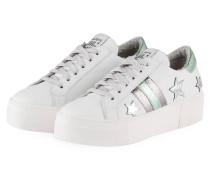 Plateau-Sneaker - WEISS/ SILBER METALLIC