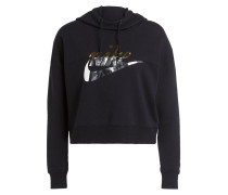 Cropped-Hoodie RALLY METALLIC