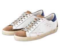 Sneaker SUPERSTAR - WEISS/ BLAU/ HELLBRAUN