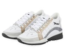 Sneaker 551 - WEISS/ SILBER/ GOLD