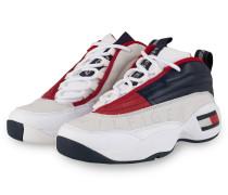 Sneaker HERITAGE - WEISS/ DUNKELBLAU/ ROT