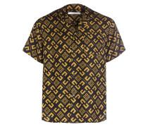 Halbarm-Hemd Comfort Fit aus Seide