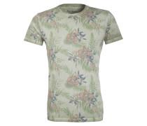 T-Shirt - grün/ blau/ beige