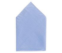 Einstecktuch - hellblau/ weiss gestreift