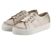 Plateau-Sneaker 2730 aus Satin - BEIGE