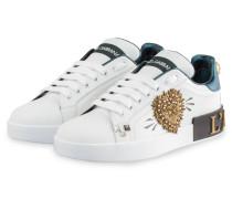 Sneaker PORTOFINO mit Nietenbesatz - WEISS