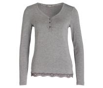 Loungeshirt - grau meliert