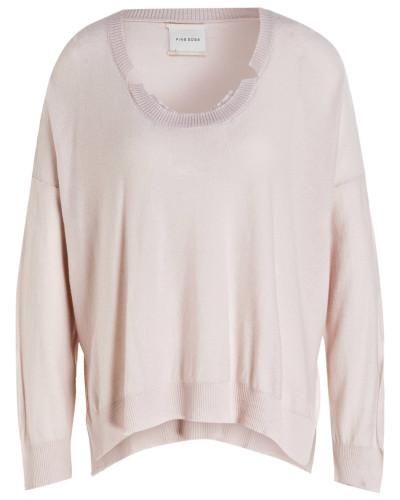 Cashmere/ Seide-Pullover - rose