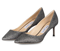 Glitter-Pumps ROMY 60 - ANTHRAZIT
