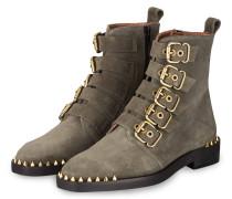 Boots mit Nieten - KHAKI