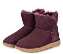 Boots CLASSIC CUFF MINI - DUNKELROT