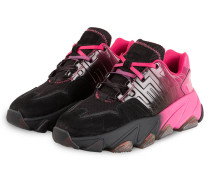 Plateau-Sneaker EXTASY - SCHWARZ/ PINK