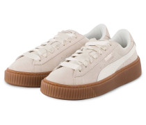 Sneaker SUEDE PLATFORM BUBBLE - CREME